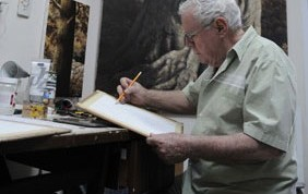 Mario García Portela pinta Tierra oscura