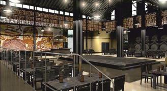 Proyecto del interior de la cervecería