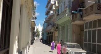 Calle Compostela hoy desde San Juan de Dios