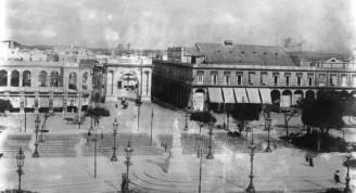 Manzana de Gómez, en construcción, 1908