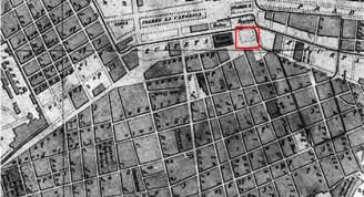 Reparto Las Murallas.Plano de 1871