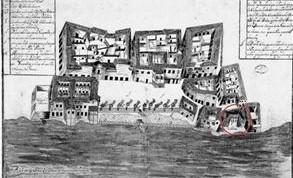 Casas de la Aduana, según Plano de la Plaza de San Francisco,siglo XVII
