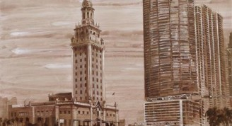 SERIE MIAMI, 2013(FREEDOM TOWER) ACRÍLICO LIENZO 100 X 130 CM