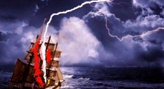 Velero en la tormenta