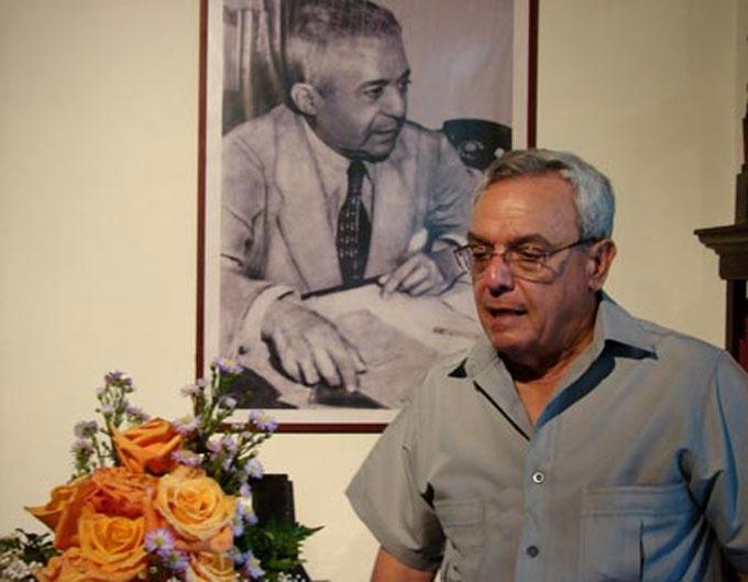 Eusebio Leal, homenaje perenne a Emilio Roig / Foto: Alexis Rodríguez