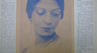 Hortensia Coalla, foto Bohemia 1929