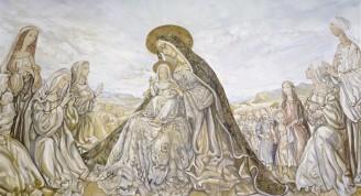 La Virgen y el niño, obra de Foujita