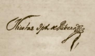 Autógrafo de Nicolás Joseph de Ribera (Custom)