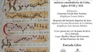 Programa del concierto de la obra de Cayetano Pagueras y Juan París
