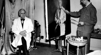 Sir Alexander Fleming, the Ayrshire man who discovered penicillin, posing for a portrait commissioned by the New York Academy of Sciences. Sir Alexander shared the 1945 Nobel Prize for Physiology or Medicine. SMG Newspapers Ltd