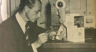 Boris Jaskóvich en el Observatorio Nacional en 1950