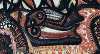 """Naturaleza muerta con peces"" (1947) / Obra: Amelia Peláez"