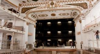 Teatro Martí en construcción / Foto Alexis Rodríguez
