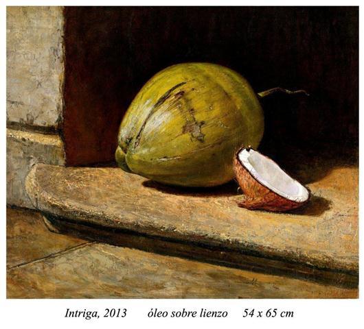 Intriga, 2013  óleo sobre lienzo 54 x 65 cm