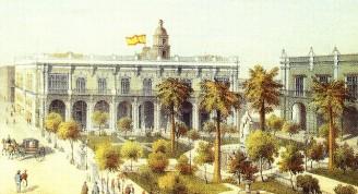 Plaza de Armas, 1841