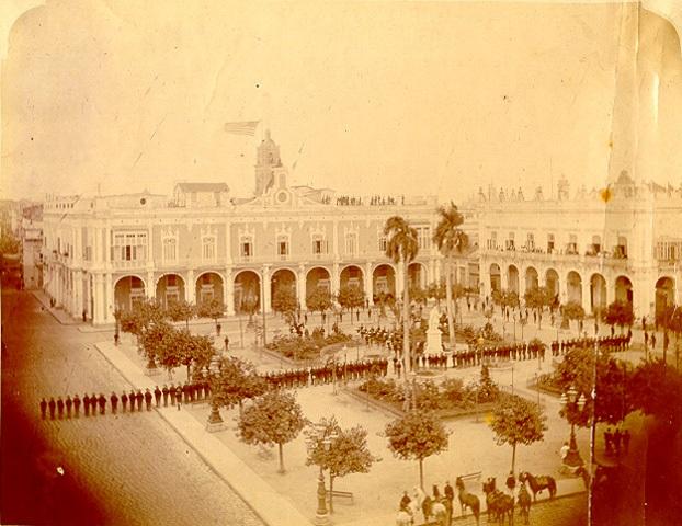 Plaza de Armas, durante la primera ocupación norteamericana (1898-1902)