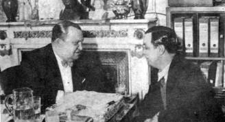 Jaime Yankelevich recibe a Ernesto Lecuona en Radio Belgrano