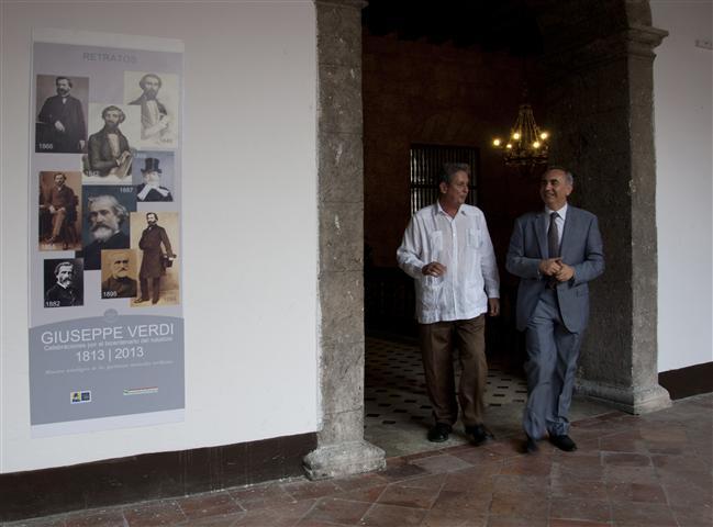 El embajador de Italia en Cuba, excelentísimo Sr. Carmine Robustelli / Foto Alexis Rodríguez