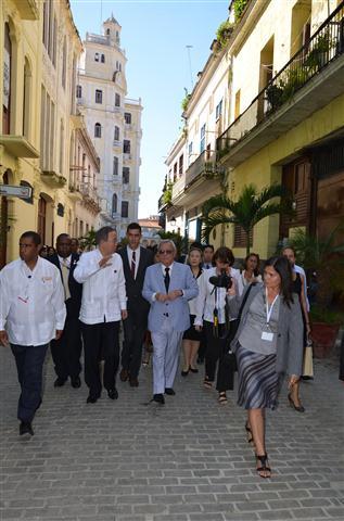 Ban Ki-moon confesó estar muy impresionado por los esfuerzos continuados y los resultados que se contemplan en la Habana Vieja