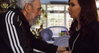 Fidel y Cristina durante su encuentro en el 2013. Foto: Archivo de Cubadebate