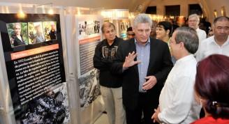 En una de las salas que forma parte del Pabellón de Ecuador, los participantes a la inauguración de la Feria conocieron detalles sobre la contaminación provocada por la transnacional Texaco-Chevron.Autor: Roberto Suárez