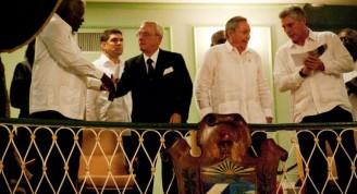 Esteban Lazo, Eusebio Leal, Raúl Castro, Miguel Díaz-Canell