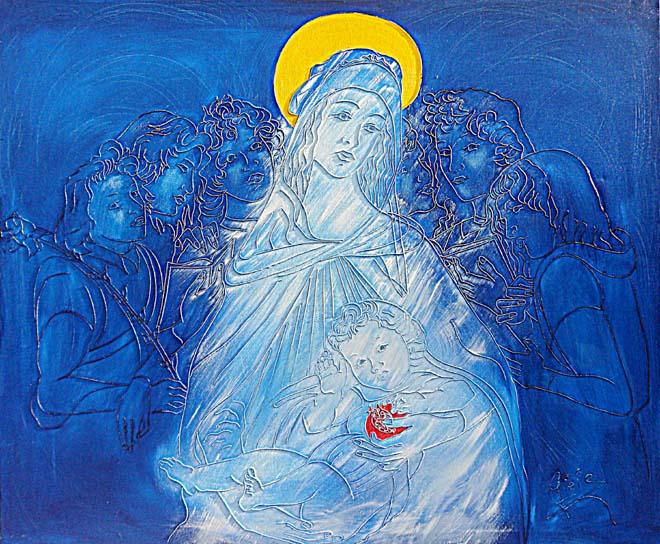 madonna con sei angeli del botticelli web
