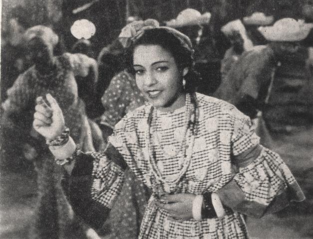 Aurora Lincheta en el filme Cancionero cubano