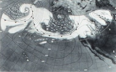 Primeras imágenes satelitales meteorológicas