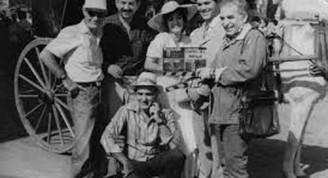 Gabriel García Márquez en el rodaje de Cartas del parque