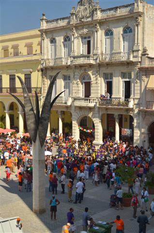 Vista de la Plaza Vieja en el Día Ecológico