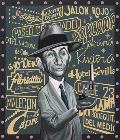 Meyer Lansky en la Habana / oleo s lienzo / 116x100cm