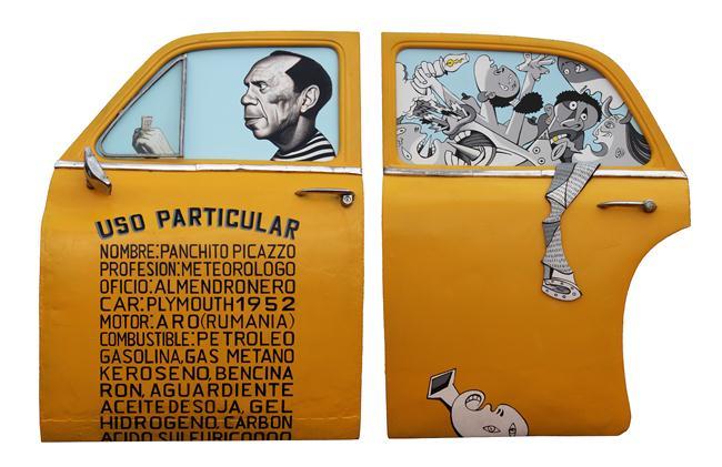 El primo segundo de Picasso / mixta sobre metal / 120 x188 x 14cm