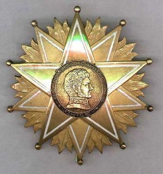 Orden Bernardo O'Higgins, en el Grado de Comendador.