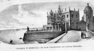 1-Iglesia y hospital de Puala, vista antigua