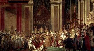 La coronación de Napoleón Bonaparte, emperador de los franceses, pintura del frances Jacques-Louis David (Custom)