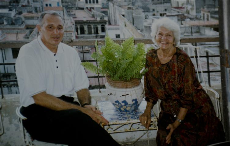 María de los Ángeles Santana y Ramón Fajardo Estrada. Cuba. Año 2001. Foto: Cortesía del entrevistado.