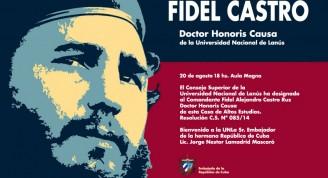 Fidel Castro recibe esta tarde Honoris Causa de la Universidad Nacional de Lanús en Argentina
