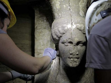 Estas excavaciones arqueológicas en la región griega de Macedonia están suscitando gran expectativa. AFP