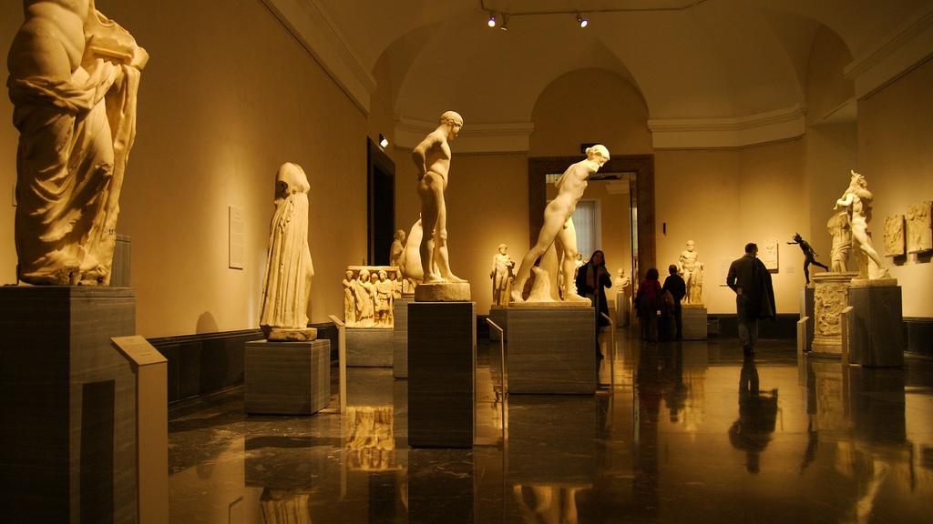Esculturas en el Museo del Prado, España