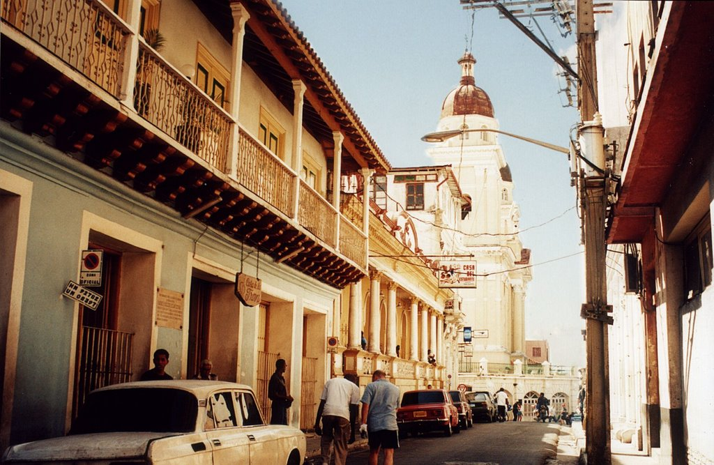 Calle Heredia en Santiago de Cuba