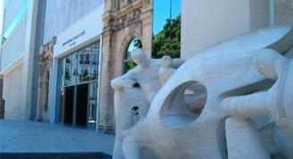 detalle del edificio de Arte Cubano del Museo Nacional de Bellas Artes