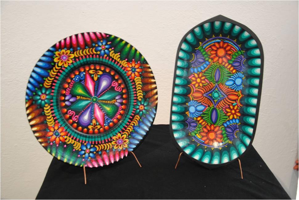 Dos piezas de Ecuador que se exhiben en la exposición