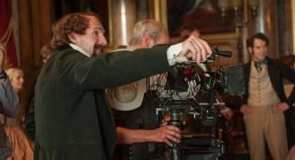 Ralph Fiennes durante el rodaje de La mujer invisible