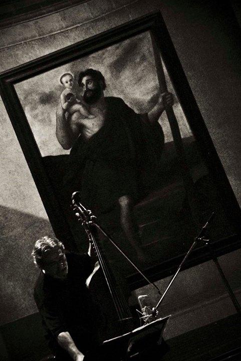 Jordi Savall, en la Basílica Menor del Convento de San Francisco de Asís. Foto: Iván Soca