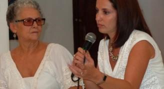 Lisette Vila junto a la realizadora / Foto Susana Méndez