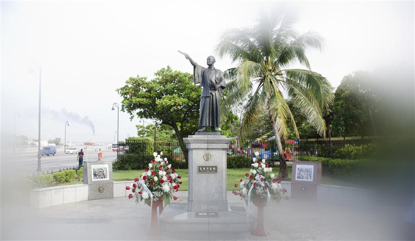 Estatua de Hasekura Tsunenaga, inaugurada en el año 2001