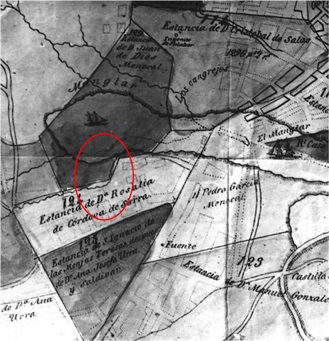 Mapa ilustrativo del libro Lo que fuimos y lo que somos o La Habana antigua y moderna, de José María de la Torre, año 1857, detalle