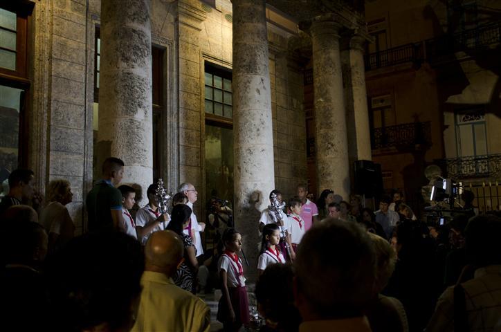 El Historiador en el lugar fundacional de La Habana: el Templete
