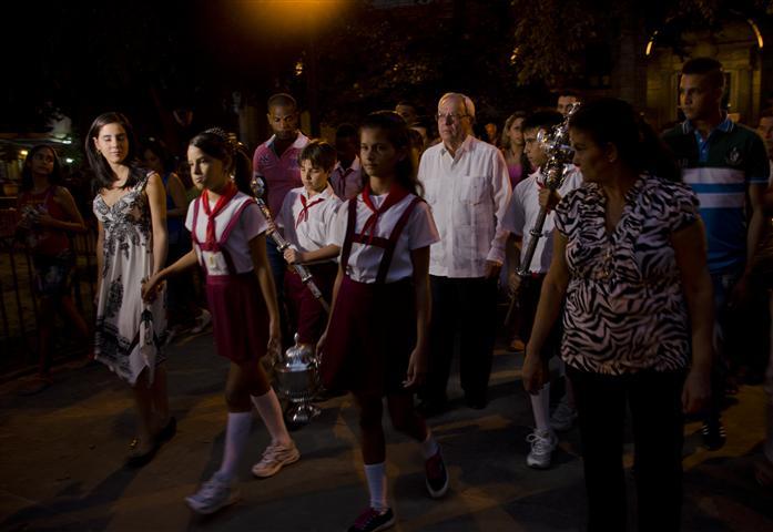 Ceremonia que recuerda la fundación de La Habana